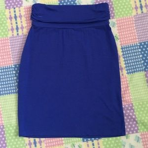 GAP Soft Royal Blue Straight Skirt Size XS